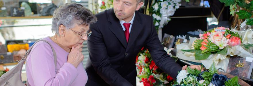 bouquet de fleurs condoléances
